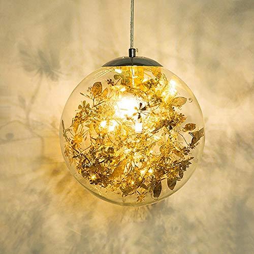 LED Pendelleuchte 20cm Durchmesser Glaskugel Hängelampe Globus Hängelampe Für Innenbeleuchtung Wohnzimmer Küchenarmaturen @ gold