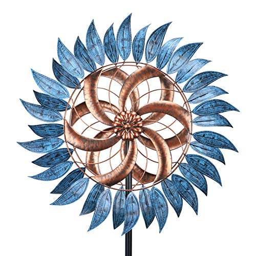 VCUTEKA Wind Spinner Large Wind Mill Metal Outdoor Indoor Large Two-Way Wind Sculptures For Garden Patio Yard Decor