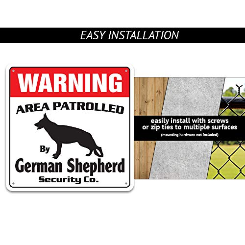Labrador Retriever Security Sign Area Patrolled pet Dog Hunter Hunting lab Photo #3