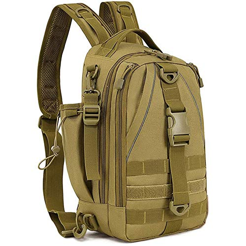 PQZATX Fishing Tackle Backpack Storage Bag Fishing Backpack with Rod Holder Shoulder Backpack Fishing Gear Bag