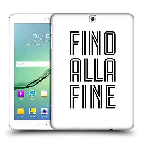Head Case Designs Oficial Juventus Football Club Fino Alla Fine Blanco Tipo Carcasa rígida Compatible con Samsung Galaxy Tab S2 9.7