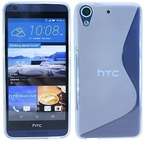 ENERGMiX Silikon Hülle kompatibel mit HTC Desire 626G Tasche Hülle Gummi Schutzhülle Zubehör in Transparent