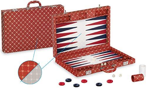 Backgammon Prestige, 54,5 x 36 x 7,5 cm, rosso