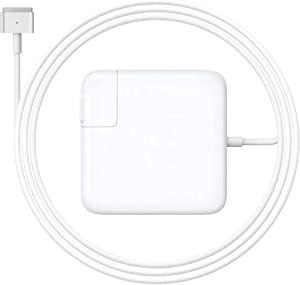 Kiolafy MacBook Air Charger, 45W Magnetic Mag2 T-Tip Charger, Universal Charger for MacBook Air 11 inch and 13 inch 2012Late