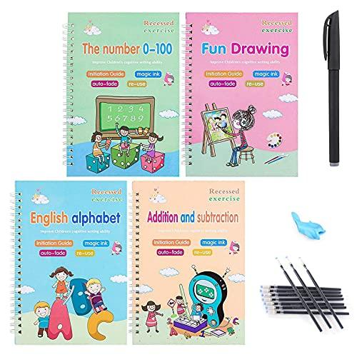 Caligrafía mágica, libro de ejercicios de escritura a mano, libro de caligrafía mágica, cuaderno de caligrafía para niños, libro de escritura a mano, libro para niños