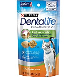 Purina DentaLife Dental Cat Treats 1.8 oz. Pouch (Pack of 10)