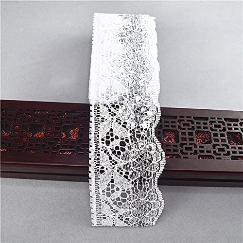 SELCRAFT 10yards Gold Easy-to-use Silver Lace Ribbon Tape 64mm Year-end annual account Width African