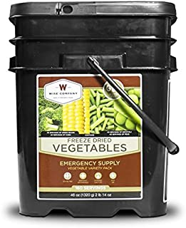 Wise Company, Emergency Food Supply, Freeze-Dried Vegetable Variety, Gluten-Free, 160 Servings