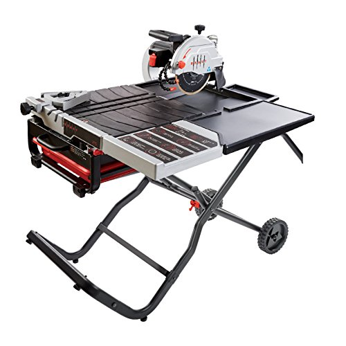 Lackmond Beast Wet Tile Saw - 10' Portable Jobsite Cutting Tool with Gravity Folding Stand &...