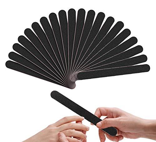 20 Stück Nagelfeilen, Professionelle Doppelseitige Nagelfeilen Einweg Für Gelnägel - Schwarz