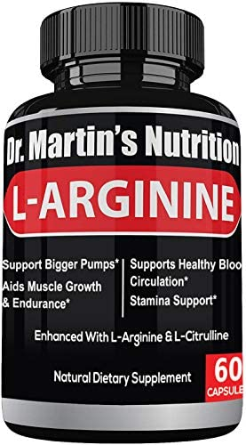 Extra Strength L Arginine 1340mg Nitric Oxide Supplements for Muscle Growth Increase Energy product image