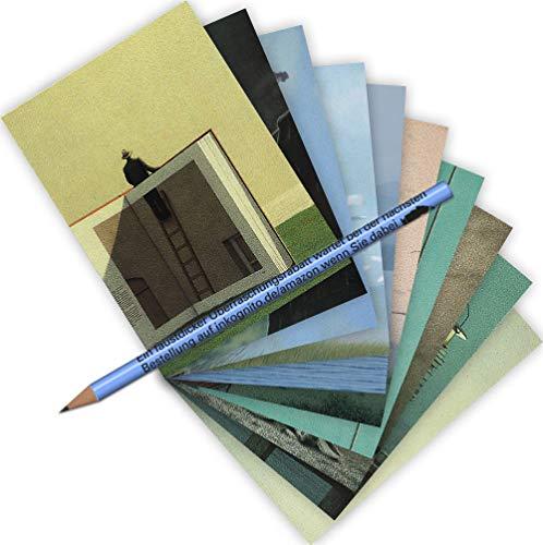 Inkognito MIX-0914 - Juego de postales (10 unidades, madera de haya, 2