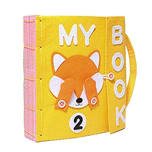 bouncevi Tela De Tela para Bebé Libros Montessori Tema Fieltro Libros Tranquilos Ropa para Bebé Libro Educación Temprana Juguetes Actividad Libro De Tela Arrugado para Su Bebé