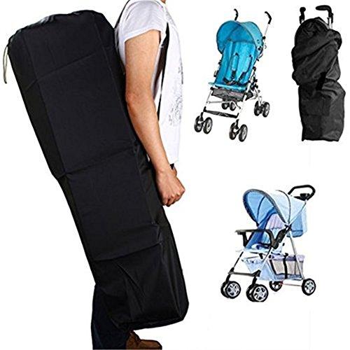 Imagen para Universal - Kinderwagentasche, Trolley - Tragetasche, leichte wasserdichte Schultertasche Aufbewahrungswagen mit, für Flugzeug, Reise, Auto, Outdoor - schwarz