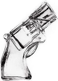 SIKOO Revolver Shot Whiskey Glass, Pistol Wine Vodka Beer Glass Drinking Glass, Halloween Gift,2 Ounce