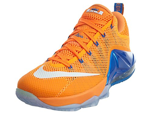 Nike Mens Lebron XII Low Bright Citrus/White-Total Orange Synthetic Size 8
