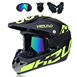 MRDEER Motocross Helm, Adult Off Road Helm...