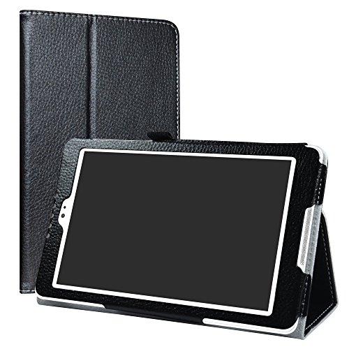 BQ Aquaris M8 Funda,LiuShan Folio Soporte PU Cuero con Funda Caso para 8' BQ Aquaris M8 Android Tablet,Negro
