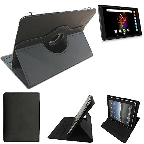 K-S-Trade Alcatel Pop 4 (10) Schutz Hülle 360° Tablet Case Schutzhülle Flip Cover Für Alcatel Pop 4 (10), Schwarz. Tablet Hülle Drehbar Standfunktion Ultra Slim Bookstyle Tasche