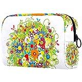 Bolso floral del maquillaje del viaje/bolso del embrague/bolso cosmético/bolso del maquillaje/bolso del tocador