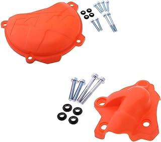 Sharplace Protección para Bomba de Agua Tapa de Embrague para Moto 250 350 SXF EXCF XCF