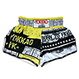 YOKKAO Muay Thai Boxing Shorts - 2018/2019 Classic Logo Design (Small, Carbonfit - Monster)