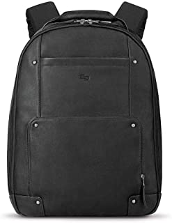 Solo Reade Vintage Leather Backpack. Fully Padded 15.6-Inch Laptop Compartment. Men's or Women's Backpack for Travel Office Bag, School Bag