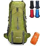 Doshwin 70L Mochila Camping Trekking Senderismo Viaje (con Funda Impermeable) (Verde)
