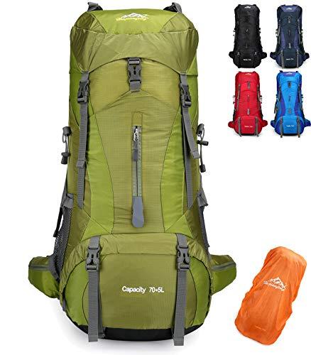 Doshwin 70L Large Backpack Camping Trekking Hiking Travel Rucksack for Women Men (with...