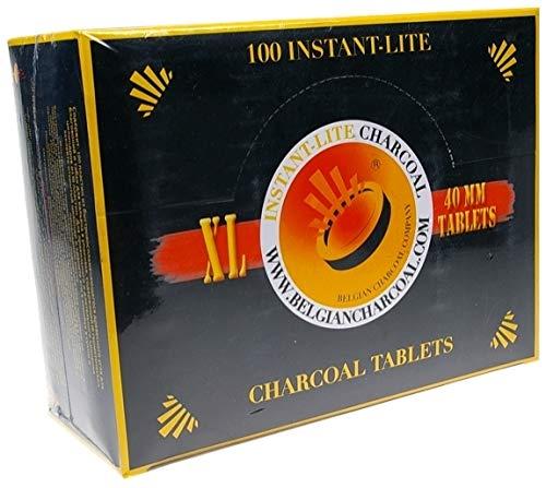 Instant-Lite Charcoal - 40 mm - Box (100 Stück) - selbstzündend