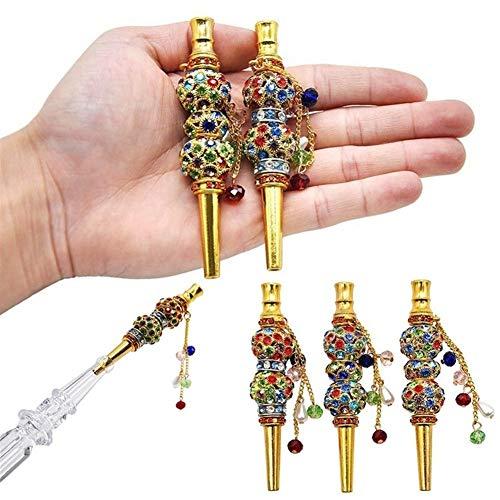 Hochwertige vergoldete arabische Shisha Shisha Art und Weise handgemachte Intarsien Schmuck Legierung Shisha Mundfiltermundrohr