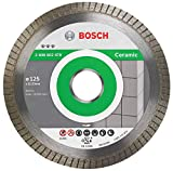 Bosch Professional Disco de diamante Best for Ceramic Extra Clean Turbo (cerámica dura, 125 x 22,23 mm, accesorio para amoladora)