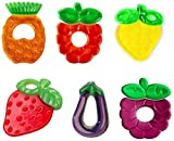 Teri Beri Water Filled Soft Cooling Teether BPA-Free Specially Designed to Ease Teething Teether - Pack of 1 (Mix Design Any 1)
