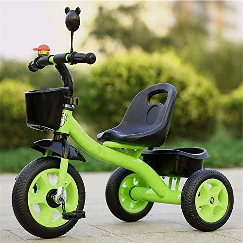 FANPING Triciclo de niños con Caja de Almacenamiento, Estructura de triángulo de Seguridad, Adecuado for vehículos de Tres Ruedas de 2-6 años de Edad, de múltiples Colores de los niños