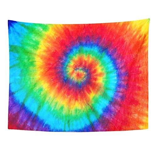 AdoDecor Patrón de Colores Color teñido Batik Tapiz decoración del hogar Colgante de Pared para Sala de Estar Dormitorio Dormitorio 150x180cm