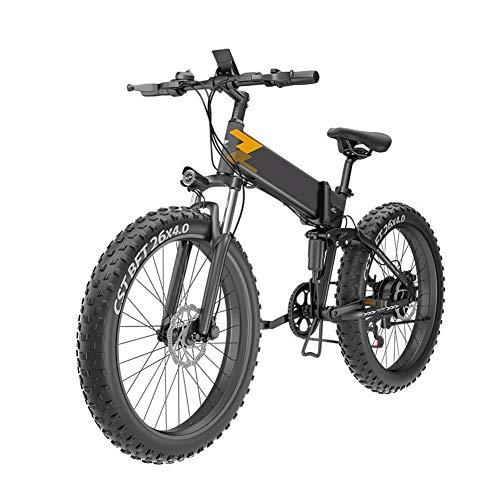 TANCEQI Elektrofahrrad Mountainbike Faltrad 26 Zoll E-Bike 48V, Elektrofahrräder Klappfahrrad Mit 7-Gang Nabenschaltung, Belastbar Bis 200KG