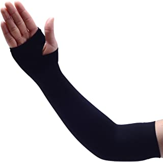 Agepoch Cooling Arm Sleeves UV Sun Protection Sleeves with Hand Cover for Men Women Outdoor Activities Unisex 1 Pair Golf Cycling