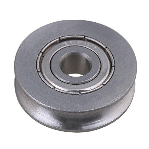 cnbtr 2 6 x 25 x 7 mm U Form 440 C Edelstahl versiegelt Umlenkrolle Schiene Kugellager Rolling Rad Silber