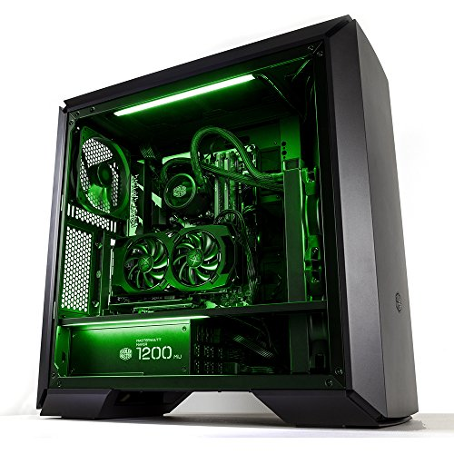 Cooler Master 2x Universal LED Strip Green PC Gehäuse Zubehörteil 'Magnetisch, gleichmäßige Beleuchtung, SATA Powered' MCA-U000R-GLS000