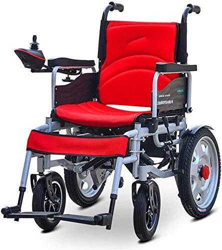 Silla de Ruedas eléctrica Plegable, Silla de Ruedas, Silla de Ruedas eléctrica de Ancianos discapacitados de Coches de Ancianos automático Inteligente portátil Vespa Plegable de múltiples Funciones