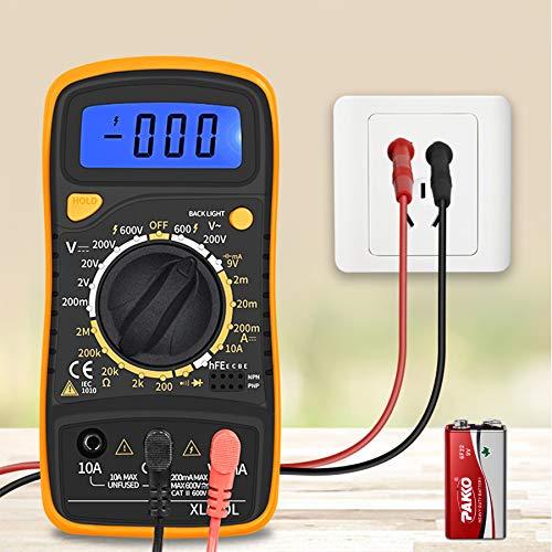 Multimetri Multimetro digitale Elettrico Portatile per Tensione e Corrente -Mini Multimetro Digitale Multimetro Voltmetro AC/DC Tester Utensile con LCD