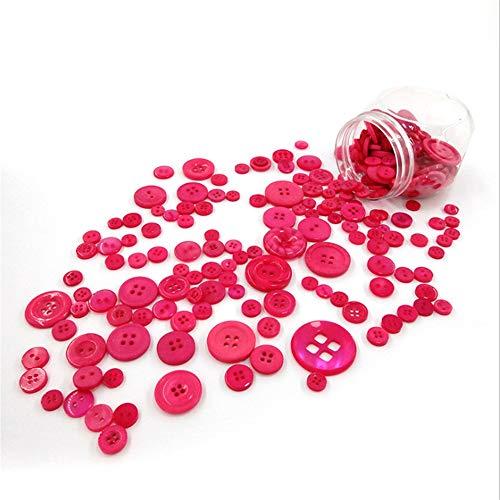Los hombres de las mancuernas Colorido Resina DIY Botón de costura redonda Paquete de 5 botellas Botones artesanales Tamaños variados Color mezclado for manualidades de arte Proyecto hecho a mano Botó