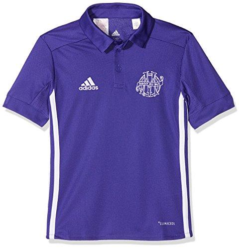 adidas OM 3 JSY Y Camiseta 3ª Equipación Olympique de Marsella 2017-2018, niños, Multicolor (tinene/Blanco), 176