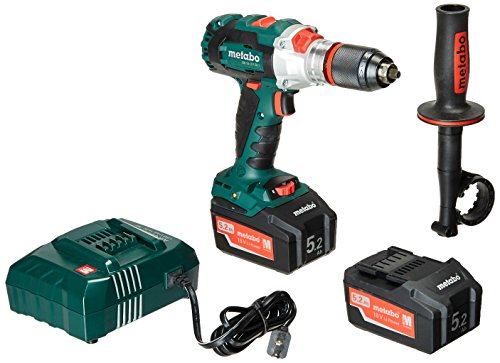Metabo- 18V Brushless Hammer Drill/Driver Kit 2X 5.2Ah (602352520 18 LTX BL I 5.2Ah), Hammer Drill/Driver