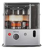 Qlima r8227C estufa de petróleo, acero/negro