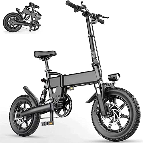 Bicicleta electrica Bicicleta eléctrica Plegable 15.5 mph Aleación de Aluminio Bicicletas eléctricas para Adultos con neumático de 16'y 250W 36V Motor EBIKE Ciudad Compute A Prueba de Agua 3mode Bici