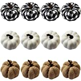 WsCrofts Set of 12 Artificial Pumpkins for Home (80mm/3.14inch) for Fall Harvest Festival, Thanksgiving Home Farmhouse Decoration