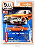 1966 Impala SS Orange Metallic with White Interior Custom Lowriders Limited Edition to 4800 Pieces 1/64 Diecast Model Car by Autoworld CP7659
