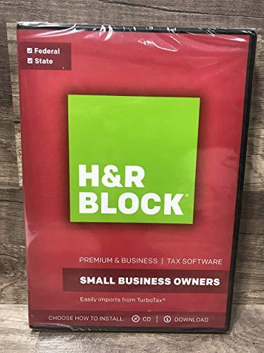 H&R Block 2017 Premium & Business-Small Business Owners -Federal & State -tax software