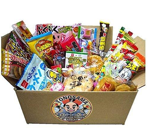 Japanese snacks assortment 30pcs , full of dagashi. 'TONOSAMA'